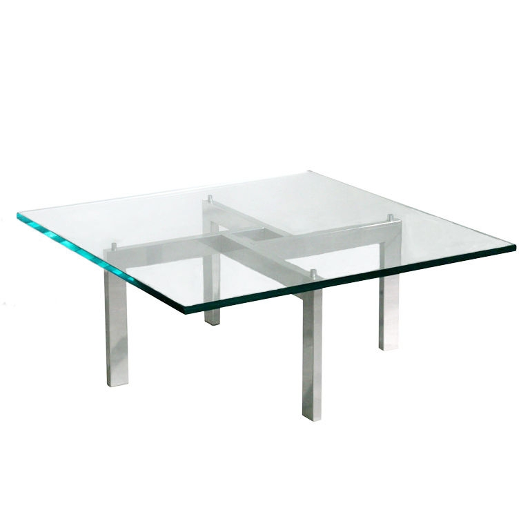 Fantastic New Chrome And Glass Coffee Tables Within Square Glass Chrome Coffee Table (View 9 of 50)