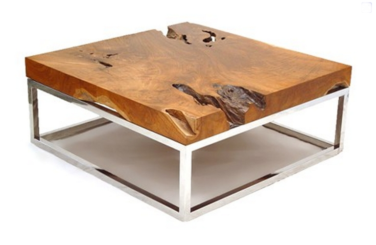 Fantastic New Chrome And Wood Coffee Tables With Regard To Coffee Table Best Salvaged Wood Coffee Table Ideas Skylar (View 21 of 50)
