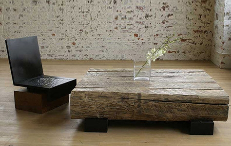 Fantastic New Chunky Wood Coffee Tables Throughout Home And Garden The Raft Table Andre Joyau (Image 17 of 50)