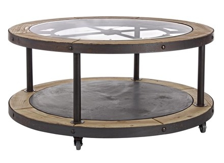 Fantastic New Clock Coffee Tables Round Shaped Intended For Vintage Metal Coffee Table With Clock Tezkarshop Jericho Mafjar (Image 17 of 50)