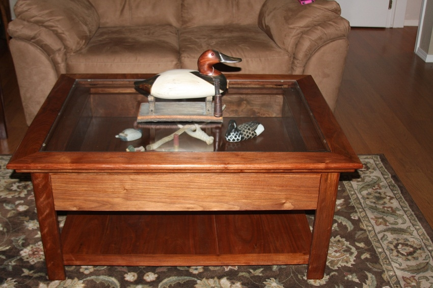 Fantastic New Coffee Tables With Glass Top Display Drawer With 20 Diy Shadow Box Coffee Table Plans Guide Patterns (Image 18 of 40)