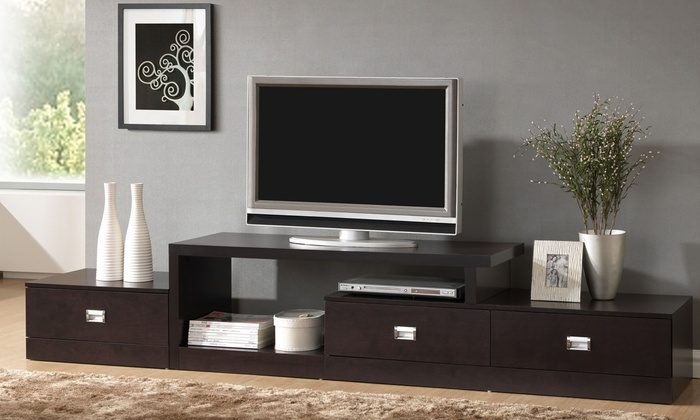 Fantastic New Contemporary Black TV Stands Regarding Contemporary Tv Stands Groupon (View 47 of 50)