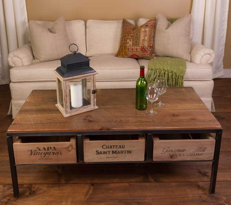 Fantastic New Country Coffee Tables Intended For Wine Country Coffee Table Farmhouse And Cottage (View 29 of 50)