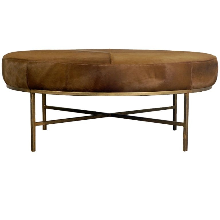 Fantastic New Green Ottoman Coffee Tables For Green Brown Pony Hide Ottoman Coffee Table At 1stdibs (Image 20 of 50)