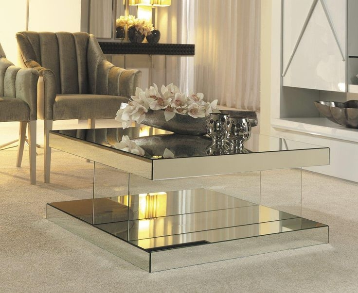 Fantastic New Oval Mirrored Coffee Tables Regarding Mirrored Coffee Table Tray Idi Design (Image 24 of 50)