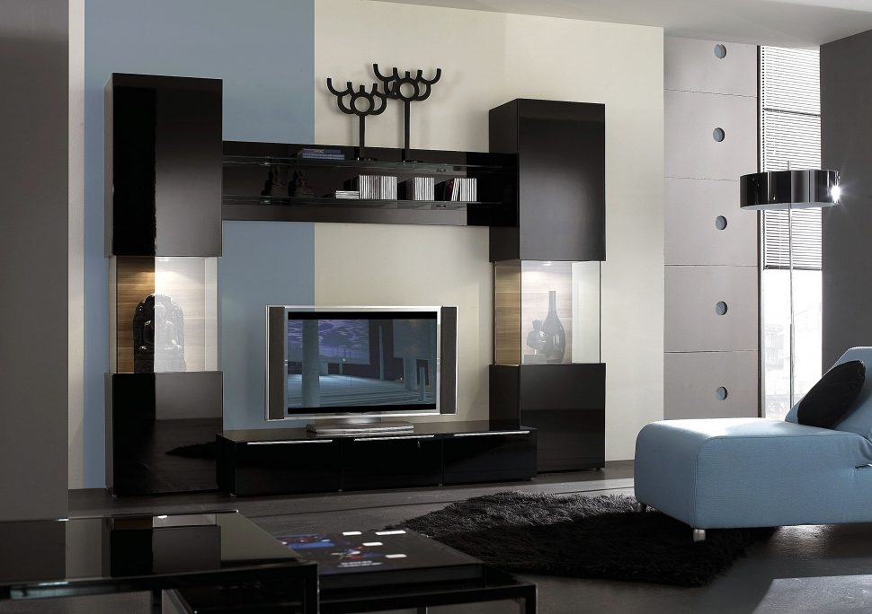 Fantastic New Small Black TV Cabinets For Living Room Black Hanging Cabinets In The Wall Awesome Tv Wall (Image 20 of 50)