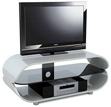 Fantastic New Stil TV Stands In Stil Stand High Gloss White Oval Tv Stand Amazoncouk Electronics (Image 21 of 49)