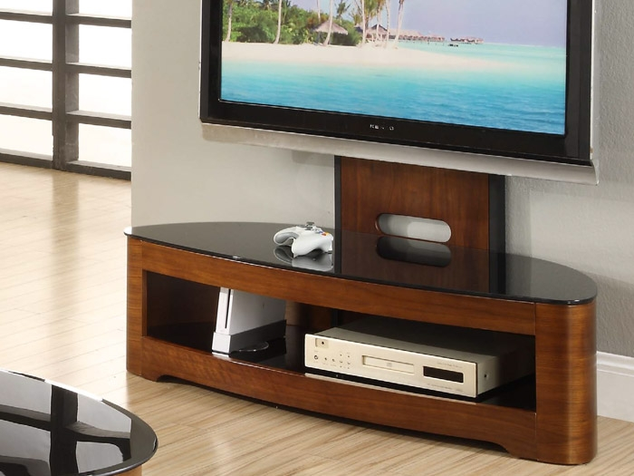 Fantastic New TV Stands Cantilever Within Contour Cantilever Tv Stand In Walnut Furniture Sofas Dining (Image 16 of 50)