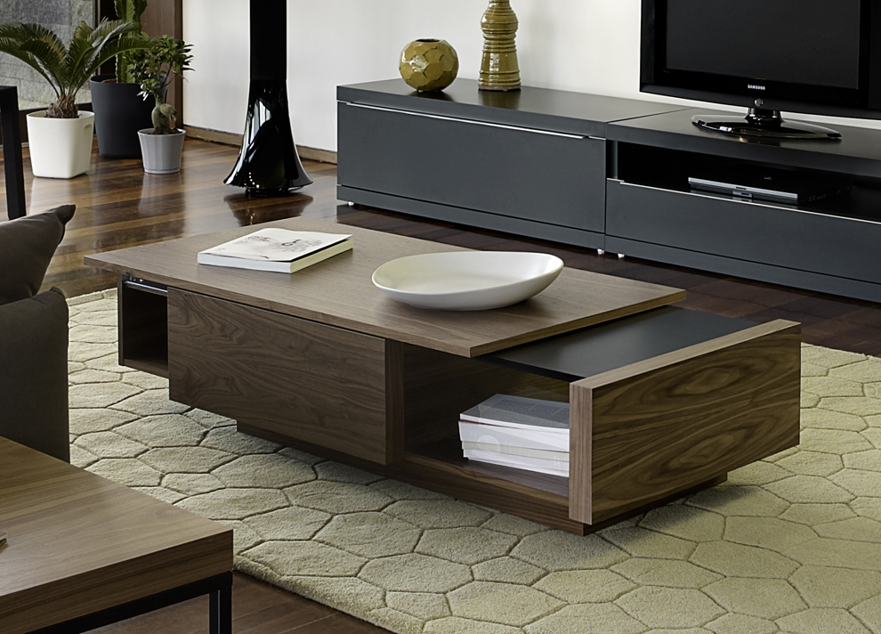 Fantastic New Wood Modern Coffee Tables Intended For Coffee Table Modern Coffee Table Storage Unique Coffee Tables (Image 16 of 50)