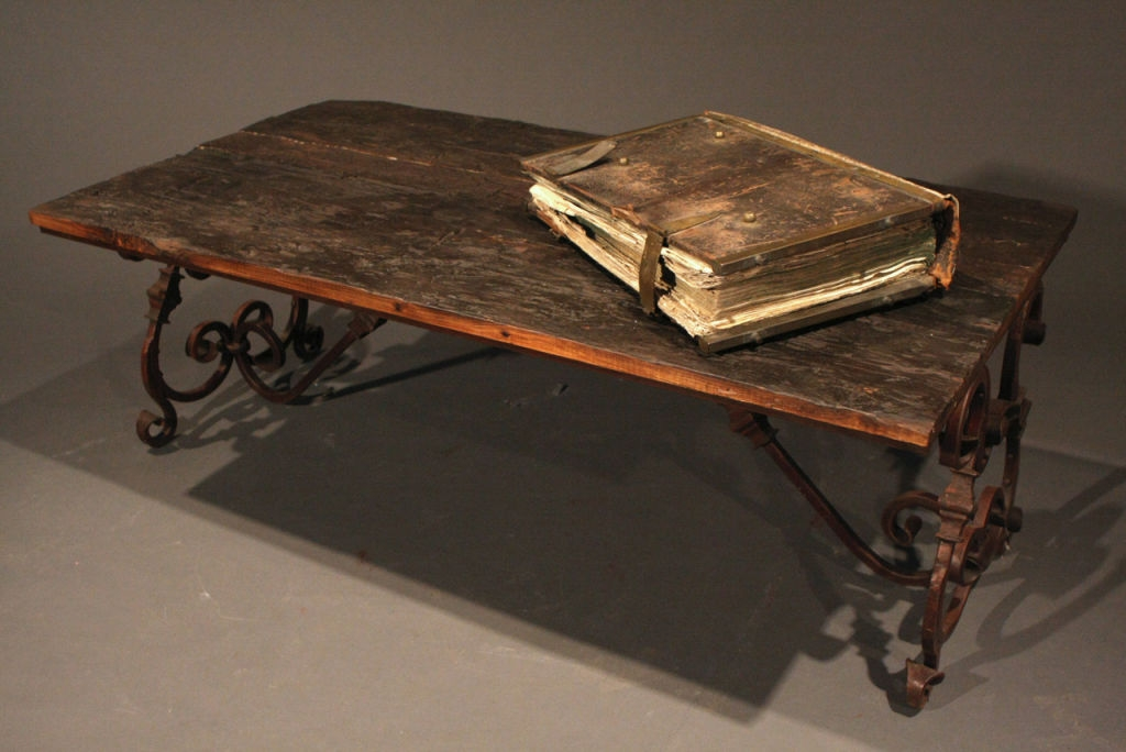 Fantastic New Wrought Iron Coffee Tables Within Wood And Iron Coffee Table (Image 18 of 50)