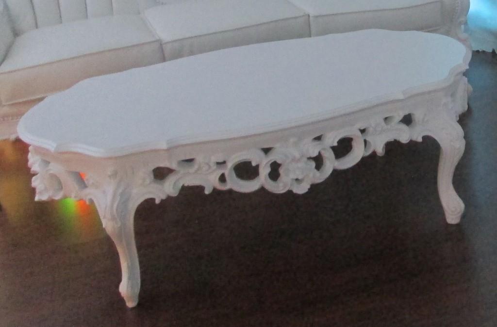 Fantastic Popular Baroque Coffee Tables Regarding Baroque Coffee Table White (Image 17 of 50)