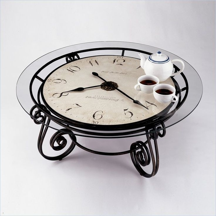 Fantastic Popular Clock Coffee Tables Round Shaped Intended For 17 Best Clock Tables Images On Pinterest Clock Table Clock (Image 18 of 50)