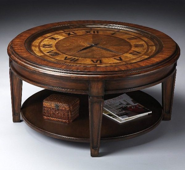 Fantastic Popular Coffee Tables With Clock Top Inside Clock Coffee Table Square Coffee Table For Glass Top Coffee Table (Image 18 of 40)