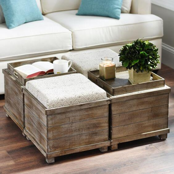 Fantastic Popular Coffee Tables With Seating And Storage With Regard To Coffee Table With Ottoman Seating Rockdov Home Design (Image 29 of 50)