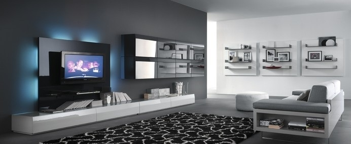 Fantastic Popular Illuminated TV Stands For Furniture Interior Design Modular With Door Available In  (Image 19 of 50)
