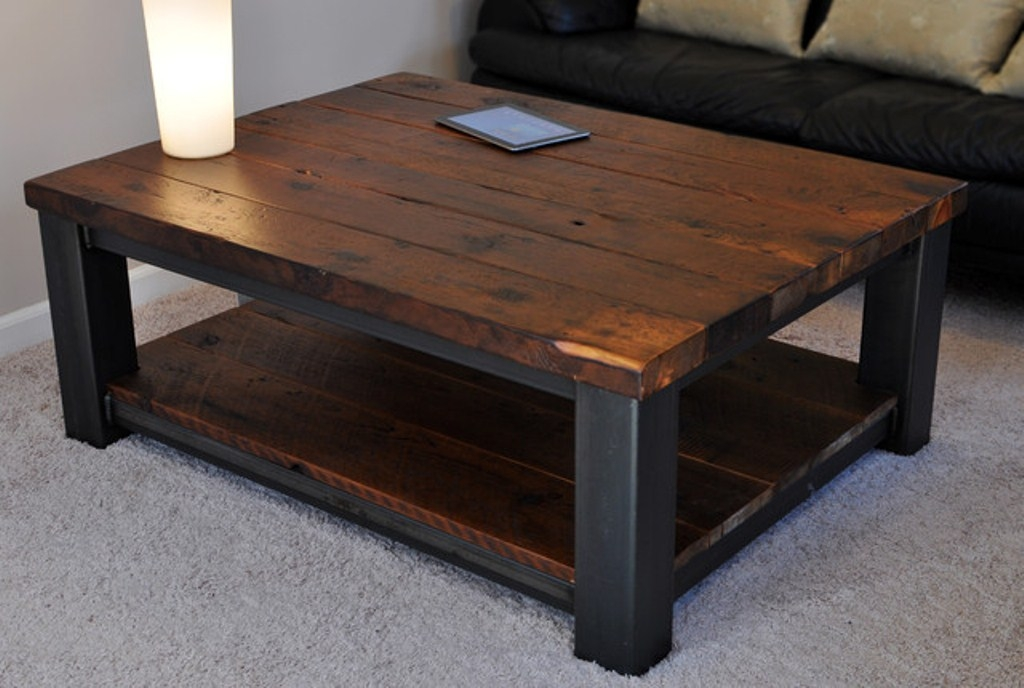 Fantastic Popular Large Coffee Table With Storage Regarding Square Rustic Coffee Table With Storage Square Rustic Coffee (Photo 19 of 50)