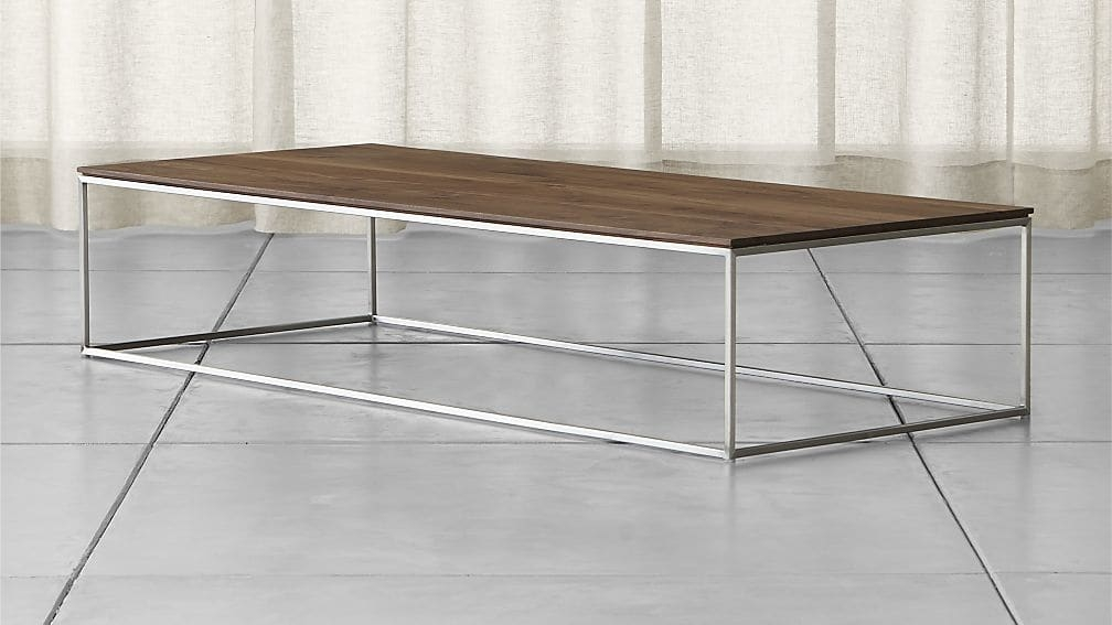 Fantastic Popular Large Rectangular Coffee Tables Regarding Frame Large Coffee Table Crate And Barrel (Image 17 of 40)