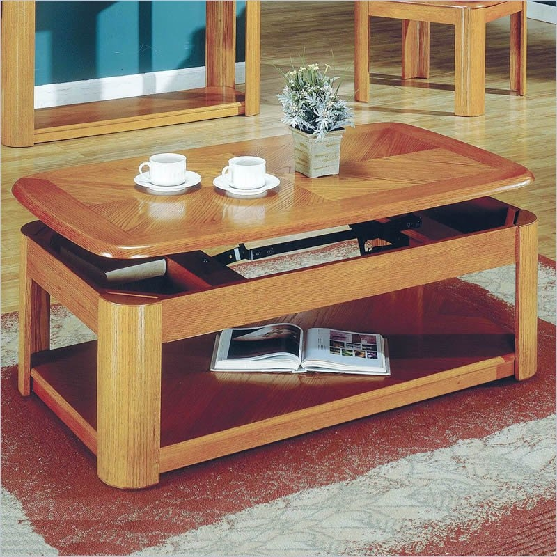 Barrett Trunk Coffee Table With Lift Top: Top 40 Lift Top Oak Coffee Tables