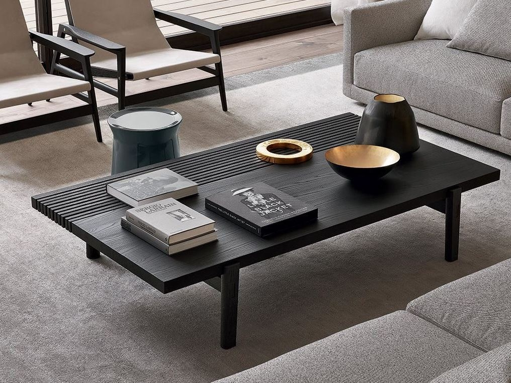 Fantastic Popular Low Rectangular Coffee Tables Pertaining To Low Rectangular Wood Veneer Coffee Table Home Hotel Rectangular (View 9 of 50)