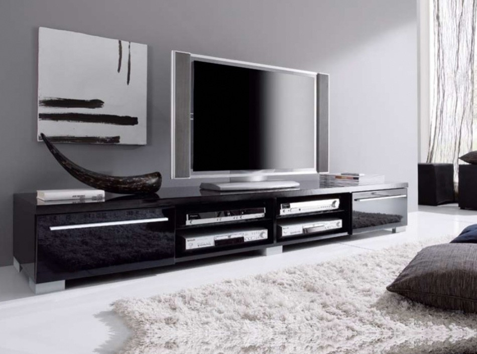 Fantastic Popular Modern White Lacquer TV Stands Pertaining To Modern Tv Stand Check Out The Brand New Igor Modern Walnut Tv (Image 17 of 50)