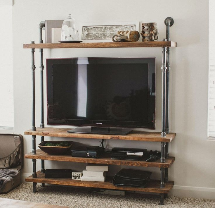Fantastic Popular Reclaimed Wood And Metal TV Stands With Regard To Best 25 Homemade Tv Stand Ideas On Pinterest Homemade Furniture (Image 21 of 50)