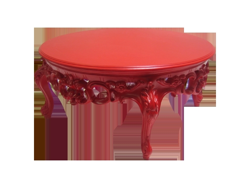 Fantastic Popular Red Coffee Table Regarding Revelry Event Designers Prague Round Red Coffee Table (Image 21 of 50)