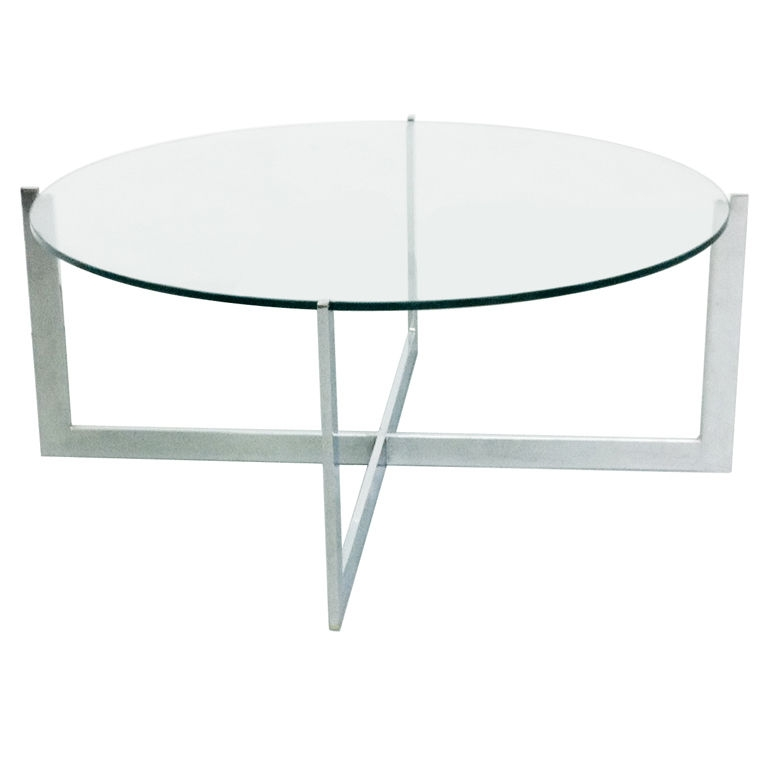 Fantastic Popular Round Chrome Coffee Tables Pertaining To Round Glass Coffee Table (Image 13 of 50)