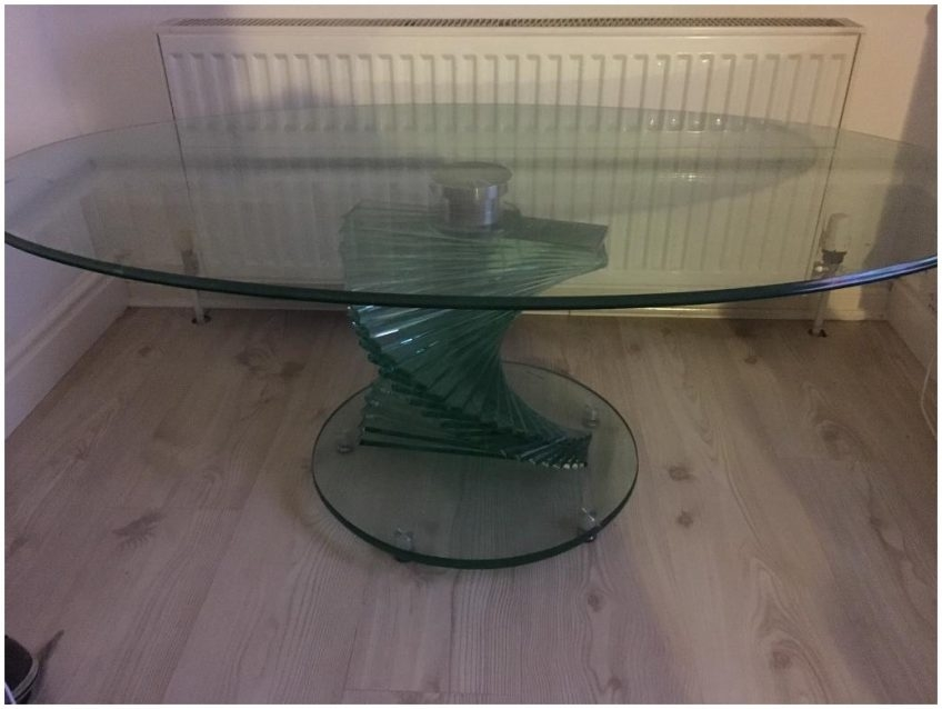 Fantastic Popular Spiral Glass Coffee Table Within Orella Silver Spiral Coffee Table Cocinacentralco (View 22 of 50)