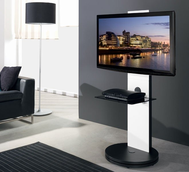 Fantastic Popular Swivel Black Glass TV Stands For Tv Stands Outstanding Swivel Tv Stands For Flat Screens  (Image 22 of 50)