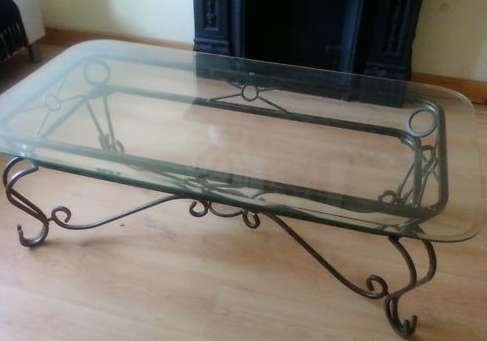 Fantastic Popular Wrought Iron Coffee Tables Within Unique Glass And Iron Coffee Table Ideas (Image 19 of 50)