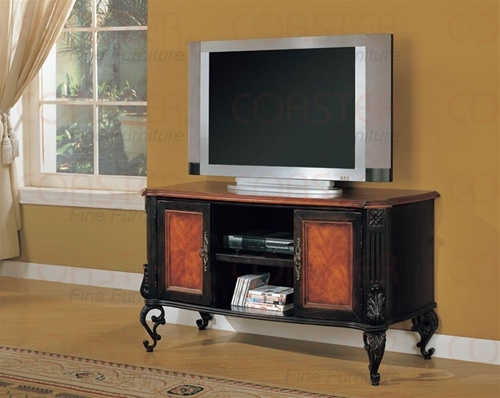 Fantastic Preferred Cherry TV Stands With Regard To Traditionalantique Style Two Tone Black And Cherry Finish Tv (Image 19 of 50)