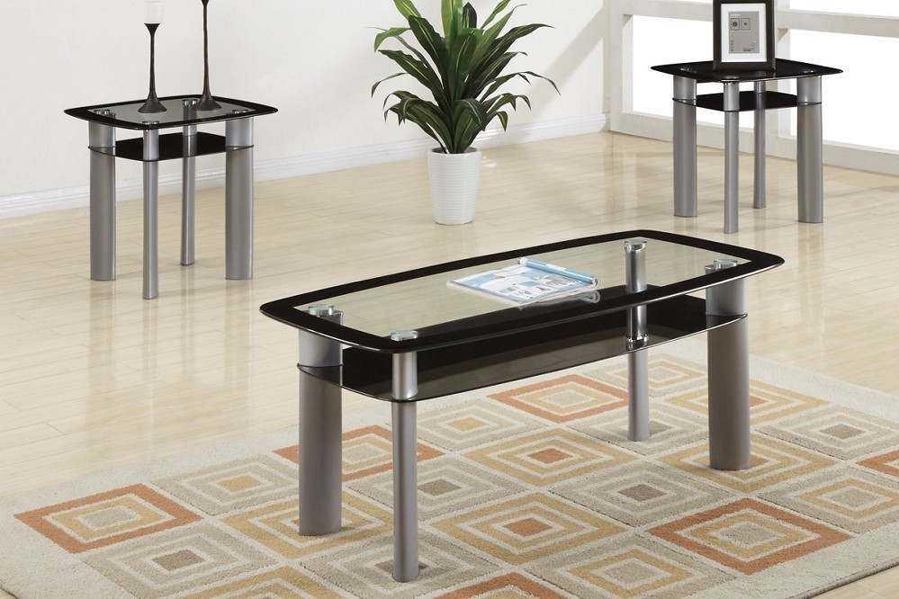 Fantastic Preferred Coffee Table With Matching End Tables Throughout Glass Living Room Table Set Silver Glass Coffee Table Setpoundex (Image 26 of 50)