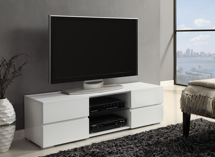 Fantastic Preferred Contemporary Wood TV Stands With Regard To White Contemporary Tv Console Orange County White Contemporary Tv (Image 14 of 50)