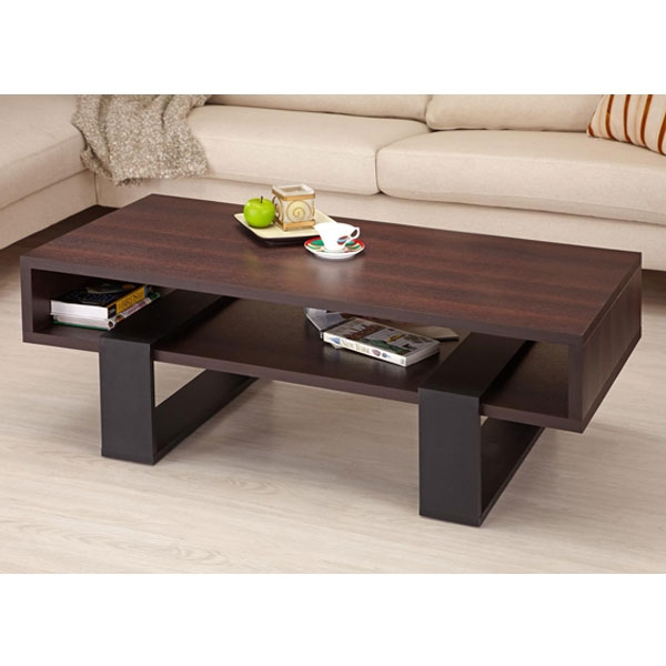 Fantastic Preferred Dark Wood Coffee Table Storages Intended For Living Room Best Contemporary Coffee Tables Modern Intended For (Image 19 of 50)