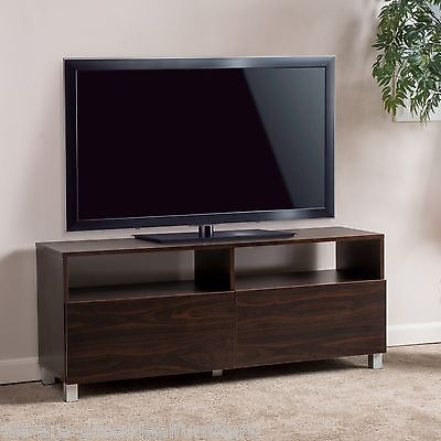 Fantastic Preferred Dark Wood TV Stands With Entertainment Center 2 Drawer Dark Walnut Wood Media Console Tv (Image 21 of 50)