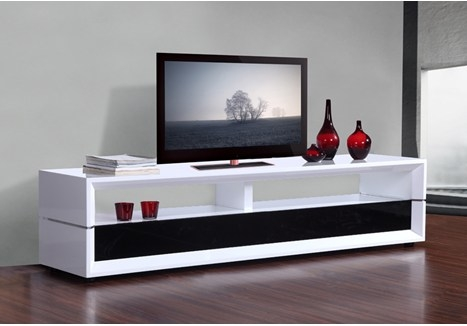 Fantastic Preferred Gloss White TV Stands Inside B Modern Executive 787 High Gloss White Tv Stand Bm 629 Wht (View 9 of 50)