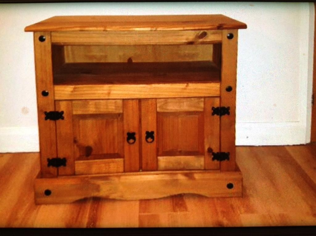 Fantastic Preferred Rustic Pine TV Cabinets Within Rustic Pine Tv Cabinet In Bradwell Norfolk Gumtree (View 45 of 50)