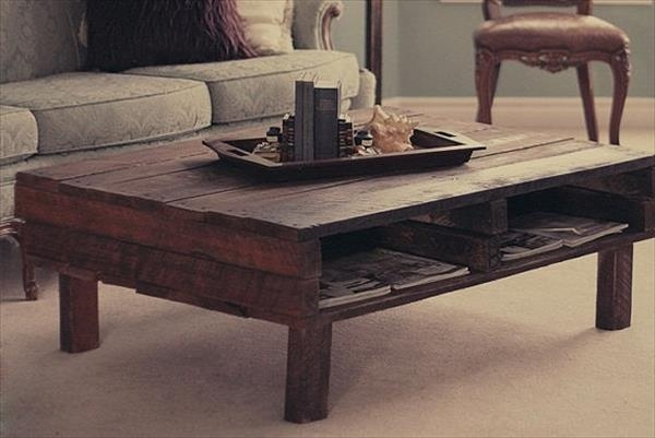 Fantastic Preferred Rustic Storage DIY Coffee Tables Inside Furniture Accessories Rectangular Rustic Pallet Wood Coffee (Image 18 of 50)