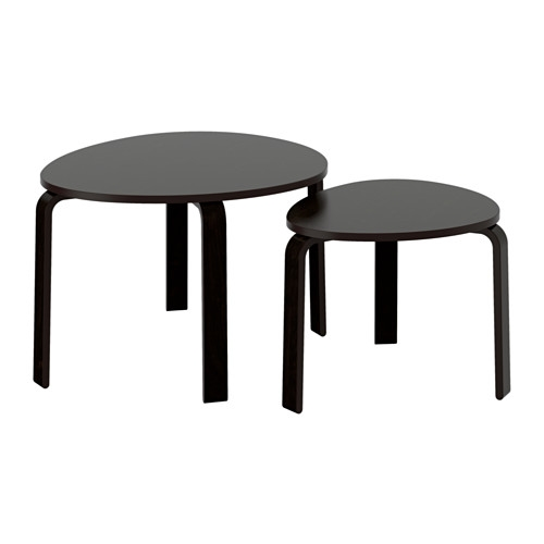 Fantastic Preferred Stackable Coffee Tables Inside Svalsta Nesting Tables Set Of 2 White Stain Ikea (View 7 of 50)