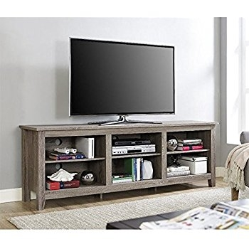 Fantastic Preferred Storage TV Stands With Amazon We Furniture 58 Wood Tv Stand Storage Console (Image 19 of 50)