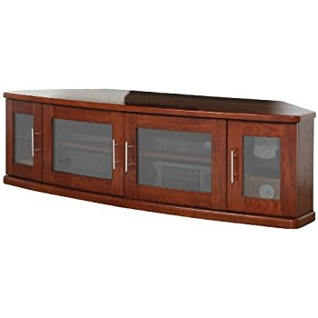 Fantastic Preferred Walnut Corner TV Stands Regarding Amazon Plateau Newport 62 W Corner Wood Tv Stand 62 Inch (Image 22 of 50)