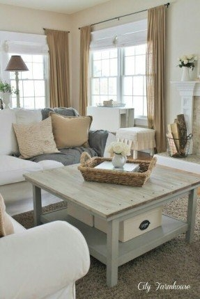 Fantastic Preferred White Cottage Style Coffee Tables In Cottage Coffee Tables Foter (View 11 of 50)