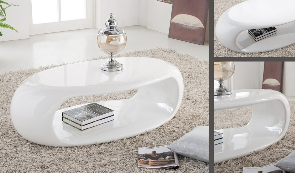 Fantastic Preferred White Gloss Coffee Tables Pertaining To Oval Gloss Coffee Table Idi Design (Image 20 of 50)