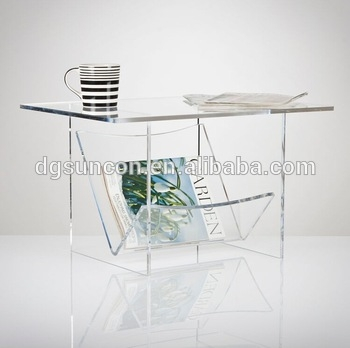 Fantastic Premium Acrylic Coffee Tables With Magazine Rack Pertaining To Unique Acrylic Coffee Table With Magazine Rack Buy Coffee Table (View 19 of 40)