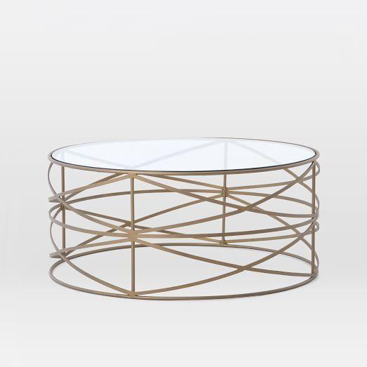 Fantastic Premium Antique Brass Glass Coffee Tables Inside Brass Sculptural Brass Coffee Table (Image 17 of 50)