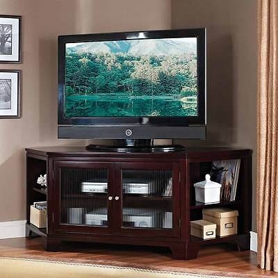 Fantastic Premium Contemporary Corner TV Stands Throughout Namir Contemporary Corner Tv Stand Entertainment Table Side (View 11 of 50)