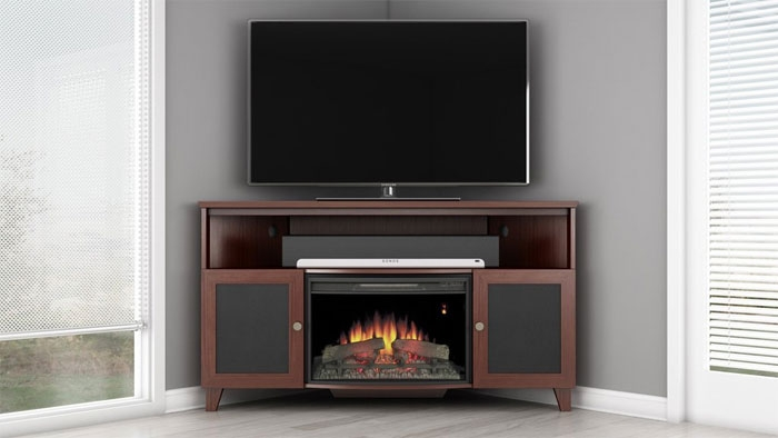 Fantastic Premium Corner TV Stands For 60 Inch TV In 60 Inch Corner Tv Stand With Fireplace (Photo 10 of 50)
