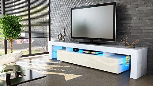 Fantastic Premium Cream Gloss TV Stands Pertaining To Cream Gloss Tv Unit Foxhunter Modern High Gloss Matt Tv Cabinet (Image 23 of 50)