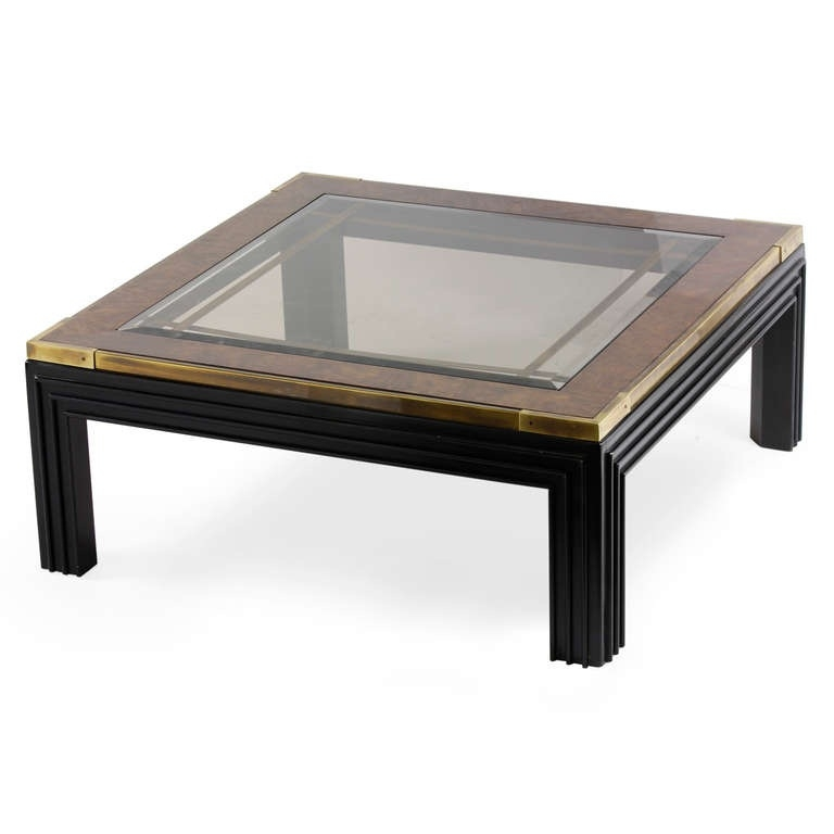 Fantastic Premium Dark Wood Square Coffee Tables Pertaining To Coffee Table Interesting Glass Top Coffee Table Glass Top Coffee (Image 20 of 50)