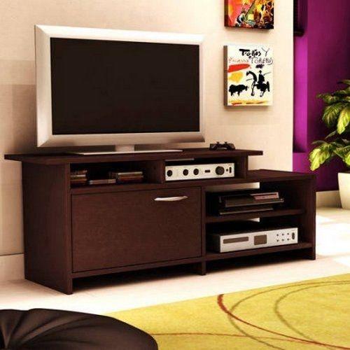 Fantastic Premium Modern TV Stands For Flat Screens Pertaining To Flat Screen Tv Stand Modern Entertainment Center Wood Media (Image 16 of 50)